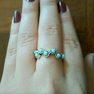 Stamped 925 Silver and Turquoise Ring